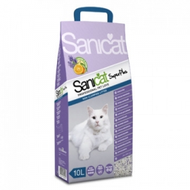 Arena natural Super Plus Sanicat 10L Lavanda & Naranja para Gatos