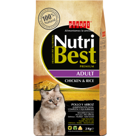 Nutribest cat Adult pollo y arroz 2/15kg