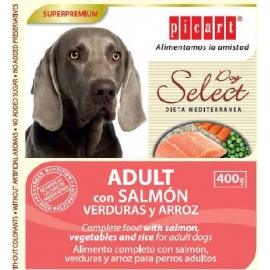 Select Dog Adult con Salmón, verduras y arroz 400gr