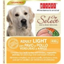 Select Dog Adult Light con pavo,  pollo, verduras y arroz 400gr
