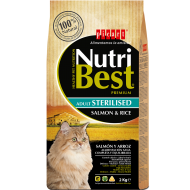 Nutribest cat sterilised salmón y arroz 8 Kg